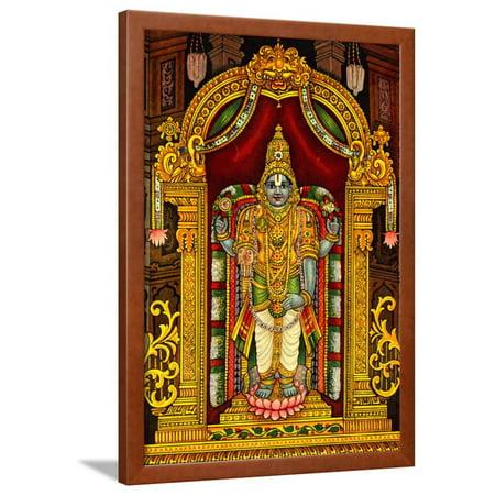 Hindu God Venkateswara Framed Print Wall Art - Walmart.com