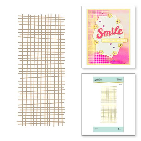 Spellbinders Glimmer Backgrounds Hot Foil Plate-Woven Glimmer