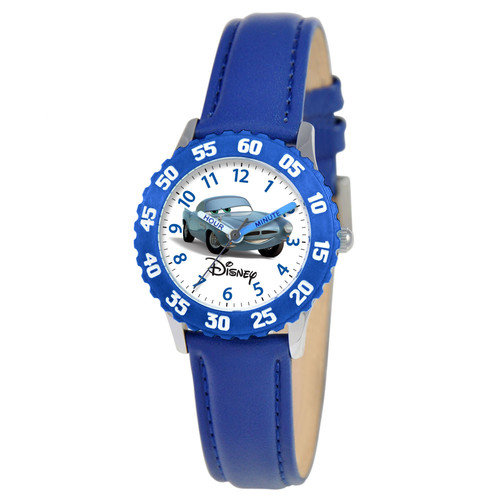 Disney Watches Kid's Cars Time Teacher Watch in Blue with Blue Bezel