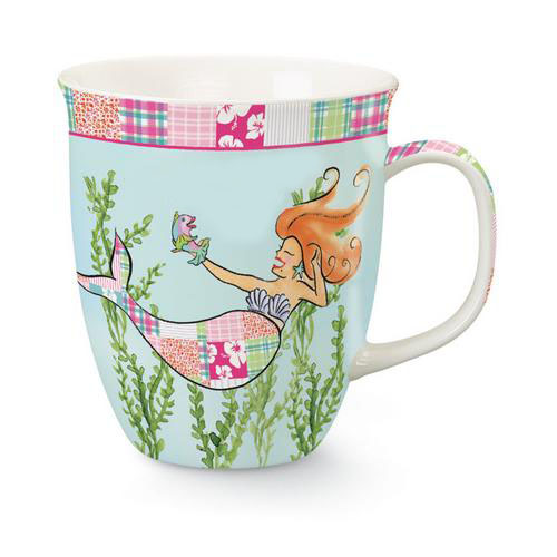 Coastal Whimsical Pretty Mermaid Siren of Sea Coffee Latte Tea Harbor Mug
