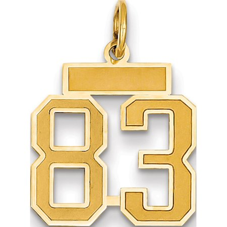 14k Yellow Gold Small Satin Number 83 Pendant / Charm - image 1 de 1