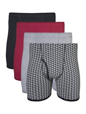 Gildan Big Men's 2XL Covered Waistband Boxer Brief, 4-Pack