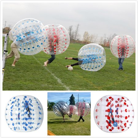 - iMeshbean 1.5M 2pcs Red & Blue Dot Inflatable Bumper Ball Body Zorbing Ball Bubble Soccer/Football Game