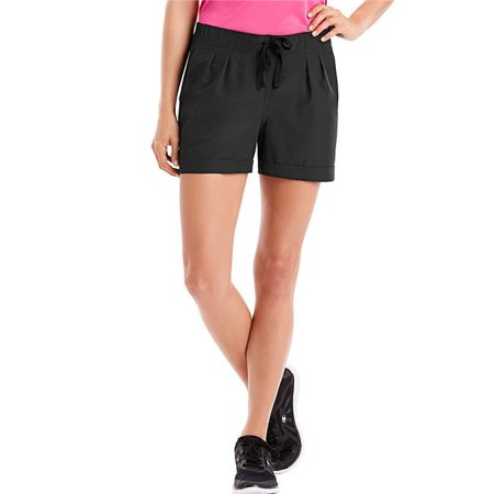 Large Sport Womens Performance Woven Shorts, Black - image 1 of 1