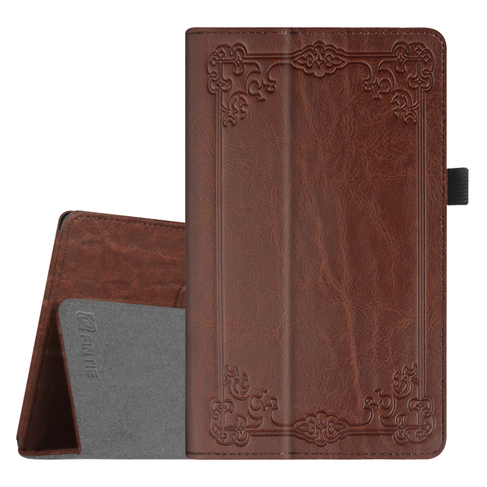 Fintie Folio Case for Amazon Fire HD 8 Tablet - Slim Fit PU Leather Standing Cover with Auto Wake/Sleep, Antique Bronze