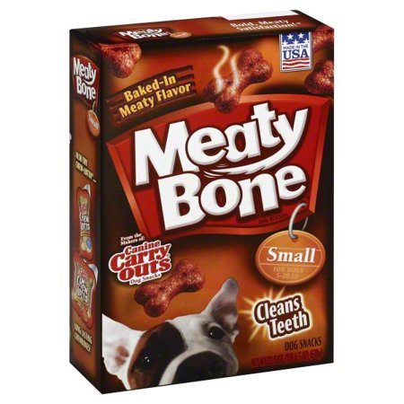 (2 Pack) Canine Carry Outs Meaty Bone Small Biscuits Dog Treats,