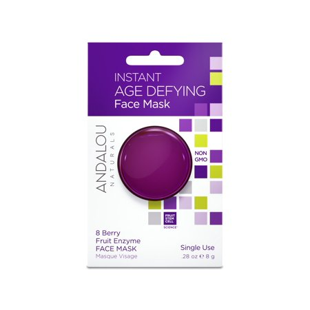 Andalou Naturals Instant Age Defying Face Mask, 8 Berry Fruit Enzyme, 0.28