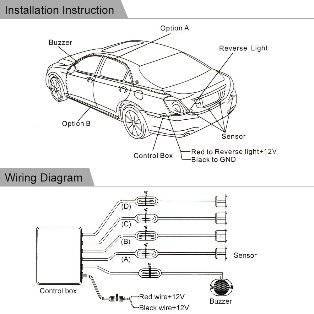 KKmoon Auto Parking System Sensor