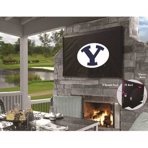NCAA Outdoor TV Cover by Holland Bar Stool, 60'' x 37'' - BYU Cougars