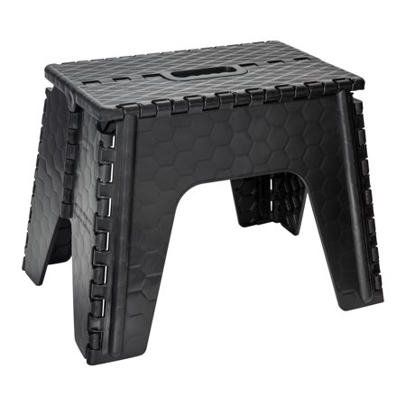 "Simplify 12"" Folding Step Stool in Black"