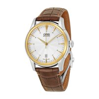 Oris Artelier Automatic Silver Dial Brown Leather Men's Watch