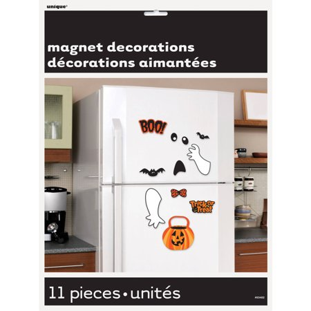 Bat and Ghost Halloween Refrigerator Magnets, 11 Pieces - Halloween Receptionist