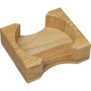 CounterArt Light Oak Round Coaster Holder