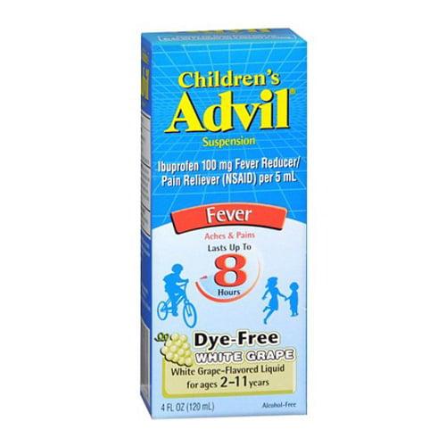 Advil Childrens Suspension, White Grape - 4 Oz