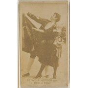 De Wolf Hopper and Della Fox  from the Actors and Actresses series (N45  Type 8) for Virginia Brights Cigarettes Poster Print (18 x 24)