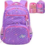 Water Resistant Girls Backpack for Primary Elementary School Large Kids Bookbag Laptop Bag