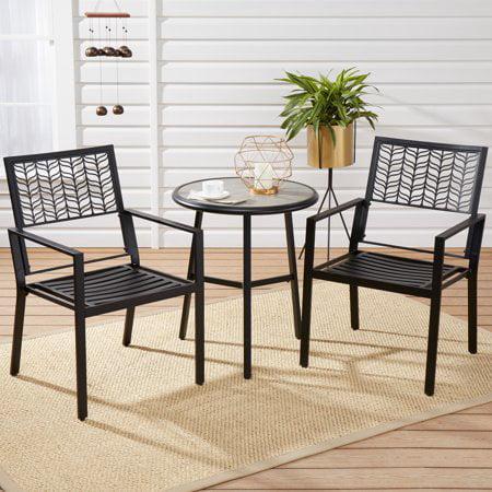 Strange Mainstays Upton Court 3 Piece Patio Bistro Set With Faux Cement Top Table Uwap Interior Chair Design Uwaporg