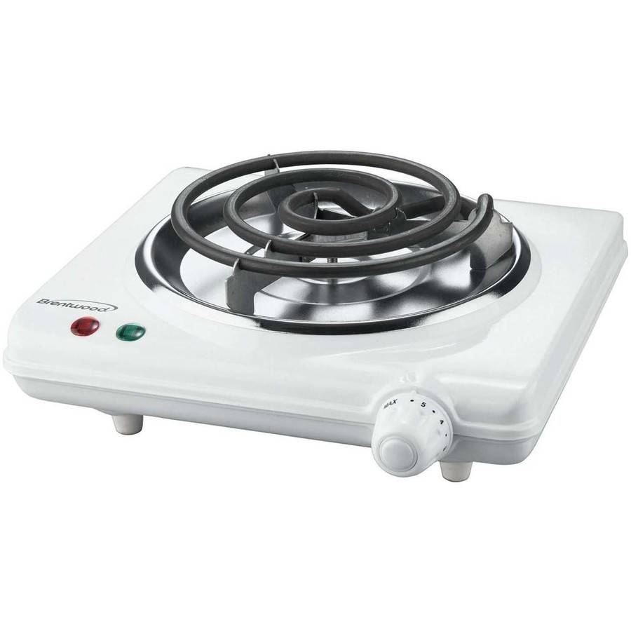 Brentwood Electric 1000W Single Burner, White
