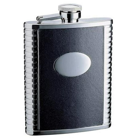 Visol VF2036 Tux 18oz Black Leather Stainless Steel Flask - image 1 of 1
