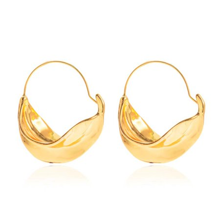 KABOER Creative Irregular Flower Basket Dangle Earrings For Women Gold Silver Metal Stereoscopic Exaggerated Drop Earrings ()