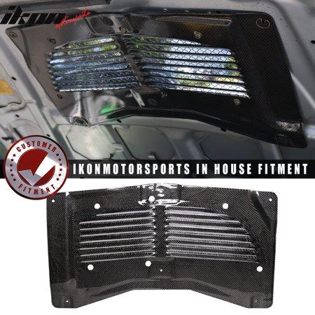 Carbon Fiber Hood Vents - Fits 03-07 Mitsubishi Evo 8 9 Hood Scoop Hood Vent Louver Carbon Fiber