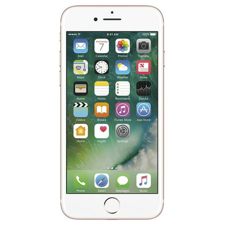 Apple iPhone 7, GSM Unlocked 4G LTE- Rose Gold, 32GB (Certified Refurbished)
