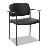 Alera Sorrento Series Ultra-Cushioned Stacking Guest Chair, Black Seat/Black Back, Black Base, 2/Carton -ALEUT6816