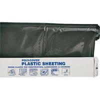 Lbm Poly-Film 6X20-B 20Ft X 100Ft 6Mil Black Polyethylene Sheeting Film Roll