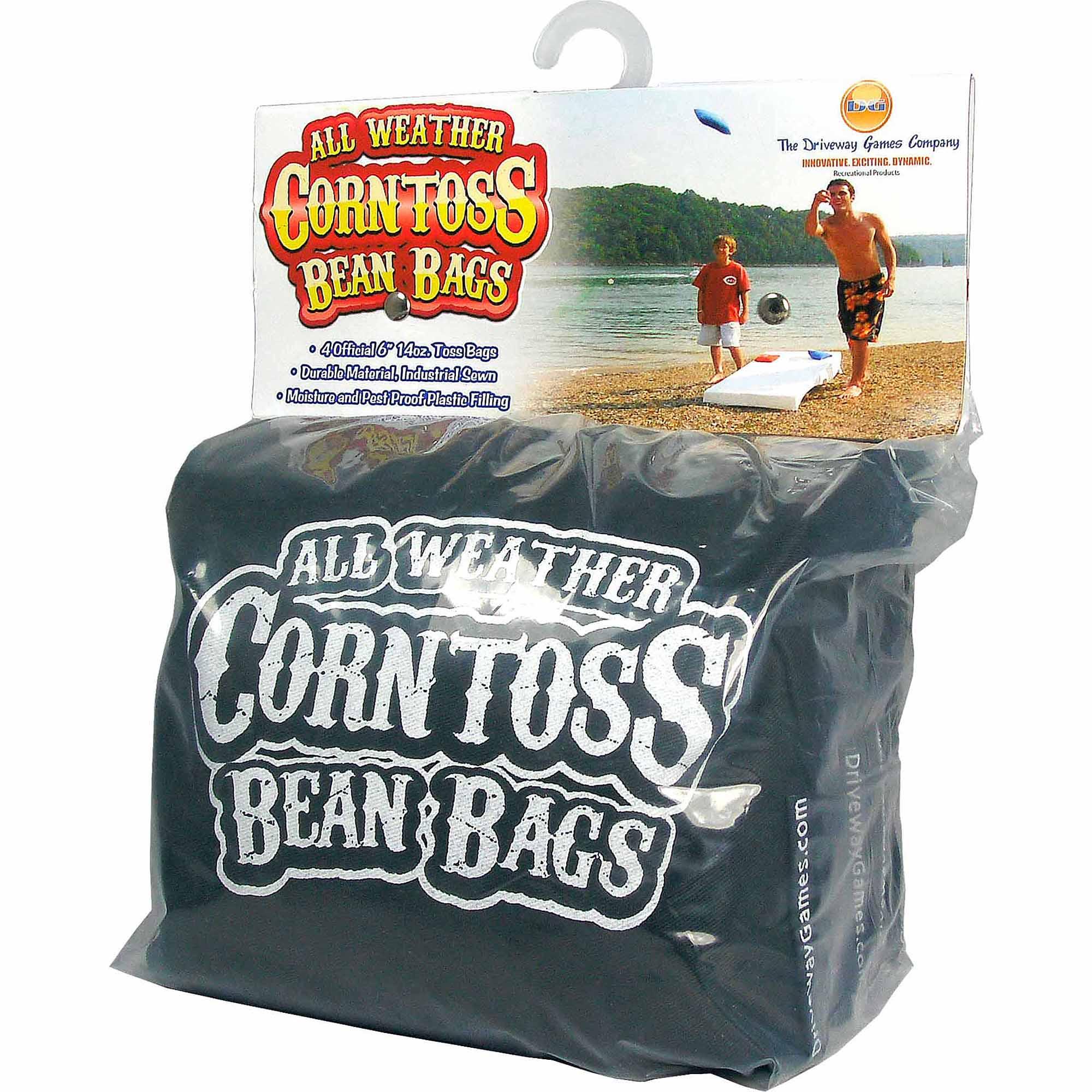 Driveway Games All Weather Corntoss Bean Bags, Black