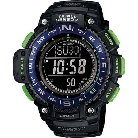 Temp Compass Mens Watch - Casio SGW1000-2B Men's Altimeter Braometer Compass Thermometer Sports Watch