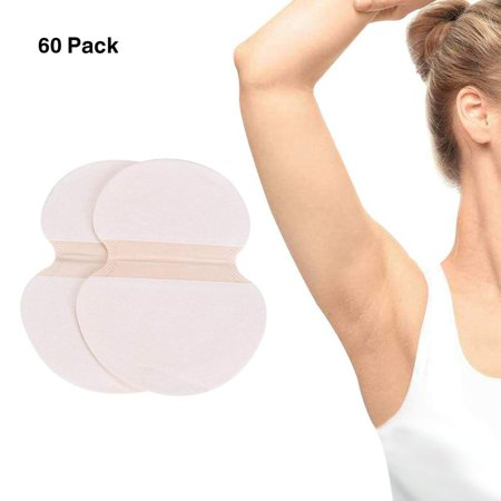 Disposable Dress Shields (Dilwe Underarm Sweat Pad - [60 Pack] Fight Hyperhidrosis Underarm Armpit Sweat Perspiration Pads Disposable Absorbent Underarm Dress Shields Antiperspirant Adhesive Underarm Pad For Women/Men )