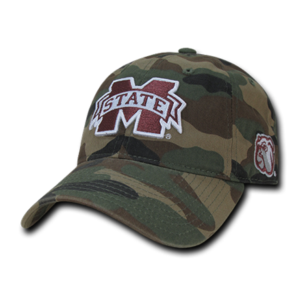 NCAA MSU Mississippi State U Bulldogs Relaxed Camouflage Baseball Caps Hats