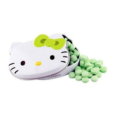 Boston America - Sours Tin - HELLO KITTY (Green Apple) (Hello Kitty Chocolates)