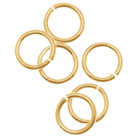 14K Gold Filled 5mm Open Jump Rings 21 Gauge (10)