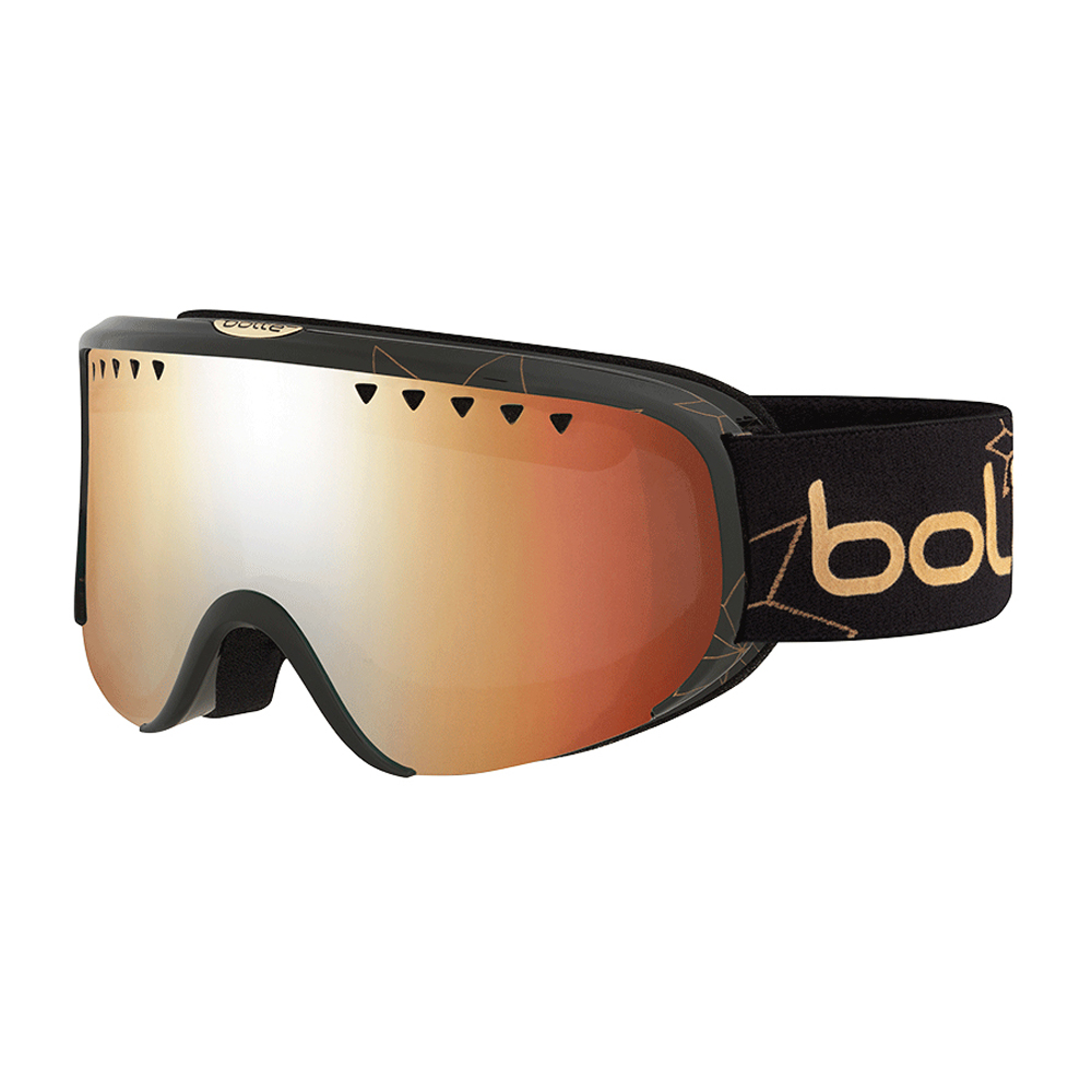 Bolle Winter Scarlett Shiny Black Edelweiss Citrus Gun 21663 Ski Goggles S M by Bolle
