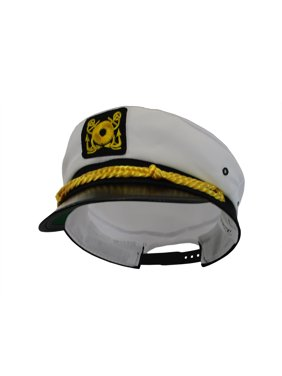 945f45df99ced Product Image Adult Ship Navy Officer Yacht Sea Skipper Captain Hat Cap  Costume Accessory
