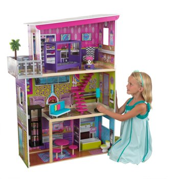 KidKraft Super Model Dollhouse with 11 Pieces of Furniture