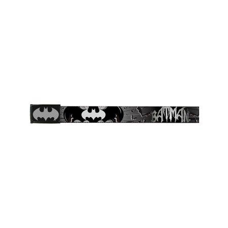 Batman DC Comics Superhero Silver Bat Wings Web - Batman Kids Belt
