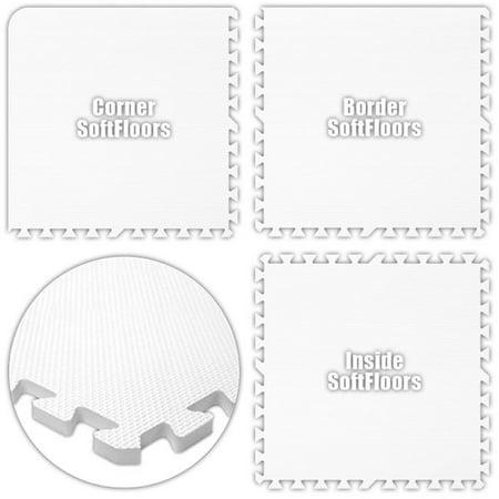 Alessco Sfwe1040 Softfloors White 10 X 40 Set Walmart Com