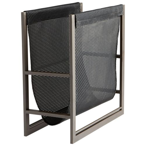 Cyan Design Mesh Magazine Rack Mesh 15.75 Inch Tall Poly and Iron Magazine Rack by Cyan Design