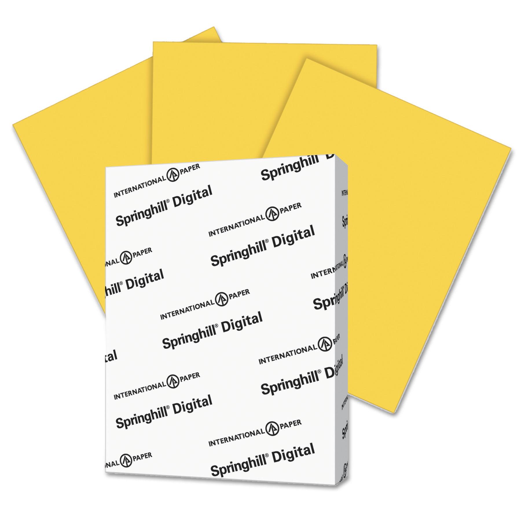 Springhill Digital Vellum Bristol Color Cover, 67 lb, 8 1/2 x 11, Goldenrod, 250 Sheets/Pk -SGH086008