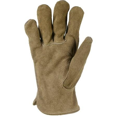 Hyper Tough Mens Large Suede Gloves
