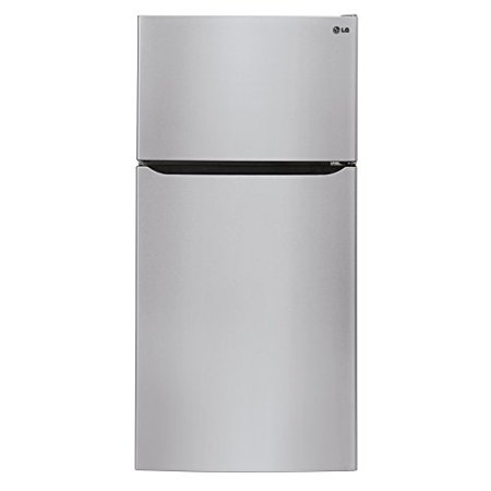 LG LTCS24223S 33 Inch Top-Mount 23.8 cu. ft. Top-Freezer Refrigerator 2 Glass Shelves 1 Full Width Pantry Drawer 3 Door Bins 1 Glass Freezer Shelf 2 Door Bins and Icemaker Stainless SteelLG 23.8 cu. ft. Top-Freezer Refrigerator with 2 Glass Shelves, Full Width Pantry Drawer, Contoured Doors, Pocket Handles and Factory Installed Icemaker LTCS24223S