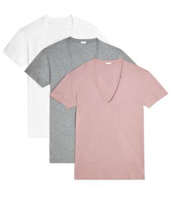 ist Mens 3 Pack V-Neck T-Shirt 2 x