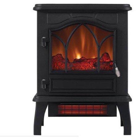 ChimneyFree Electric Infrared Quartz Stove Heater, 5,200 BTU, Black Metal (Black Metal) (Electric Stove Heater Infrared)