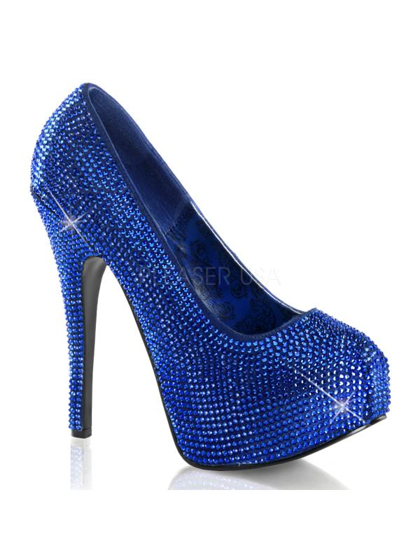 Bordello Shoes Teeze Royal Blue Satin RS Size: 10