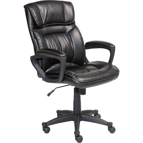 serta executive puresoft office chair, smooth black - walmart