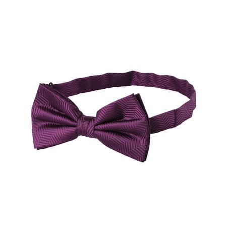 - Jacob Alexander Men's Tone on Tone Herringbone Pre-Tied Bow Tie