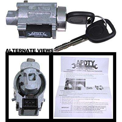 Apdty 035813 Ignition Lock Cylinder Embly Includes New Keys And Plock Chip Fi Security Light