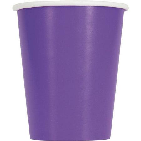 Paper Cups, 9 oz, Neon Purple, 14ct - Neon Caps